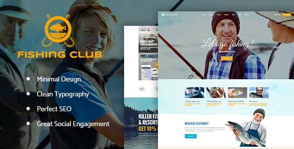 fishing and hunting travel blog theme