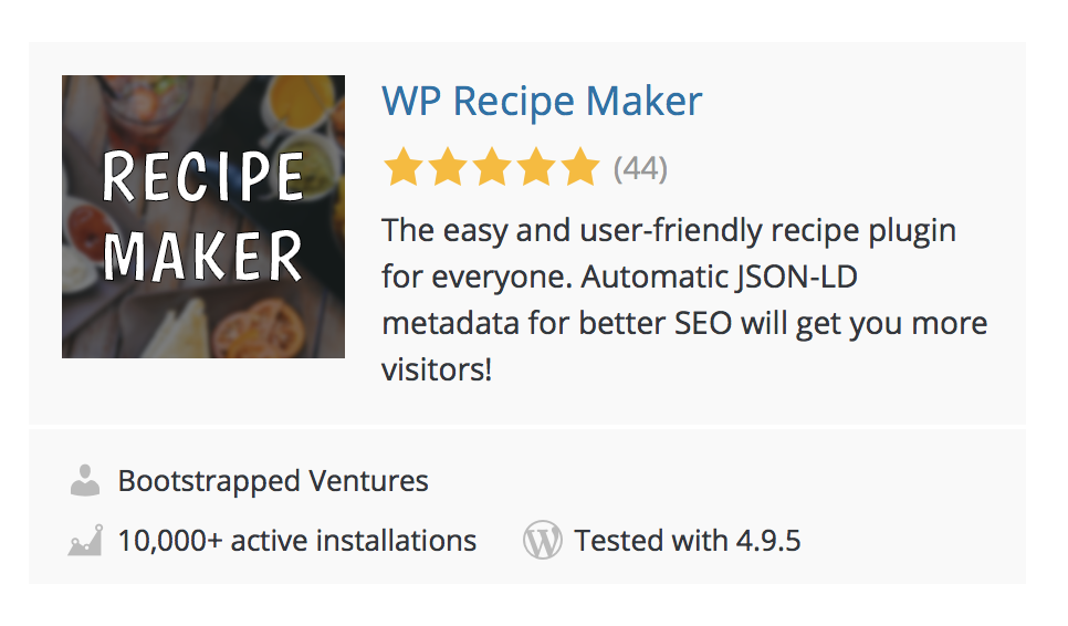 wp recipe maker wordpress plugin